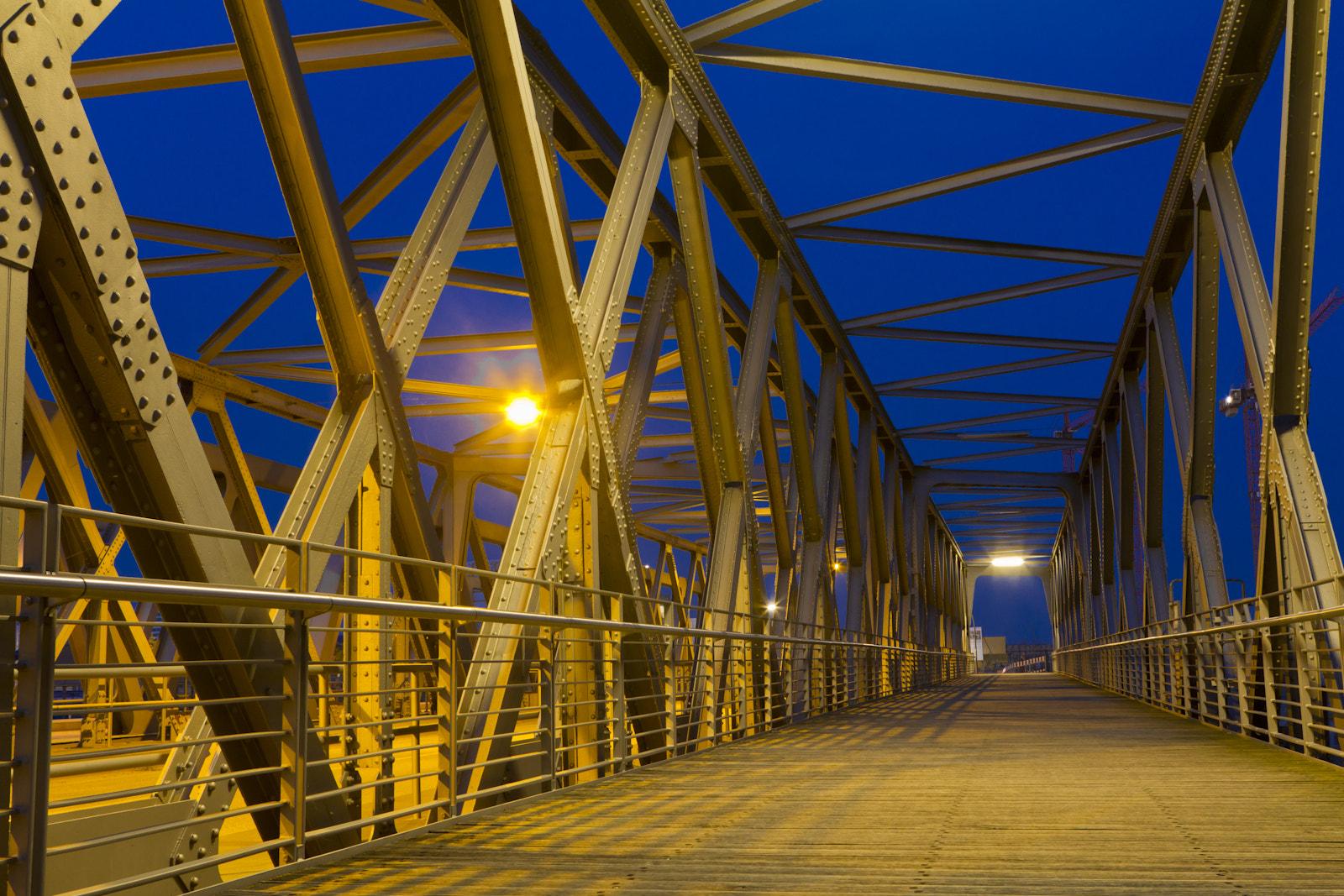 Photograph Steel Frame Bridge At Night by Marco Wahl on 500px