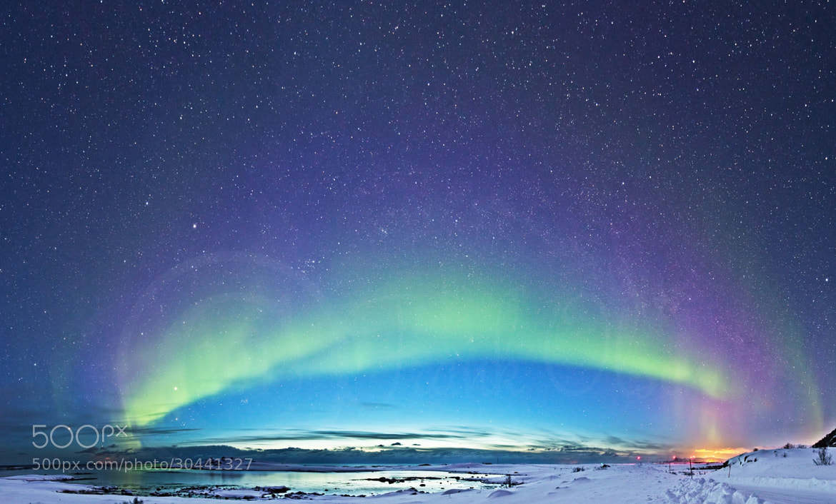 Photograph Aurora Arch by Frank Olsen on 500px