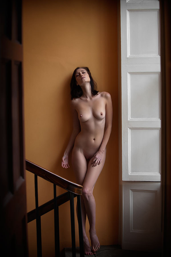 Photograph Iveta On The Stairwell by Ciaran Whyte on 500px