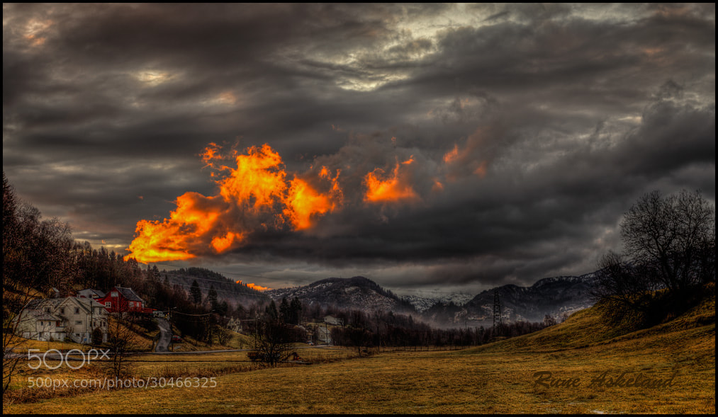 Photograph Burning sky by Rune Askeland on 500px