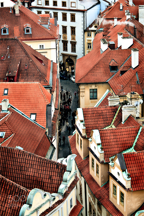 Photograph Czech Republic - Roofs on Melantrichova by Fabrizio  Fenoglio on 500px