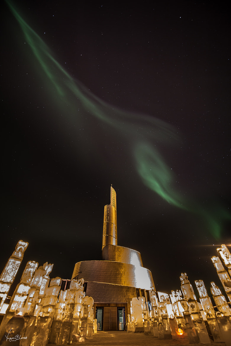 Photograph Northern Lights Cathedral II by Yngve Blomsø on 500px