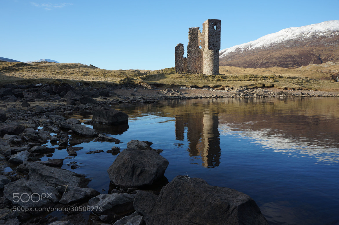 Photograph Ardvreck Castle reflection, Loch Assynt, Scottish Highlands by Heather Leslie Ross on 500px
