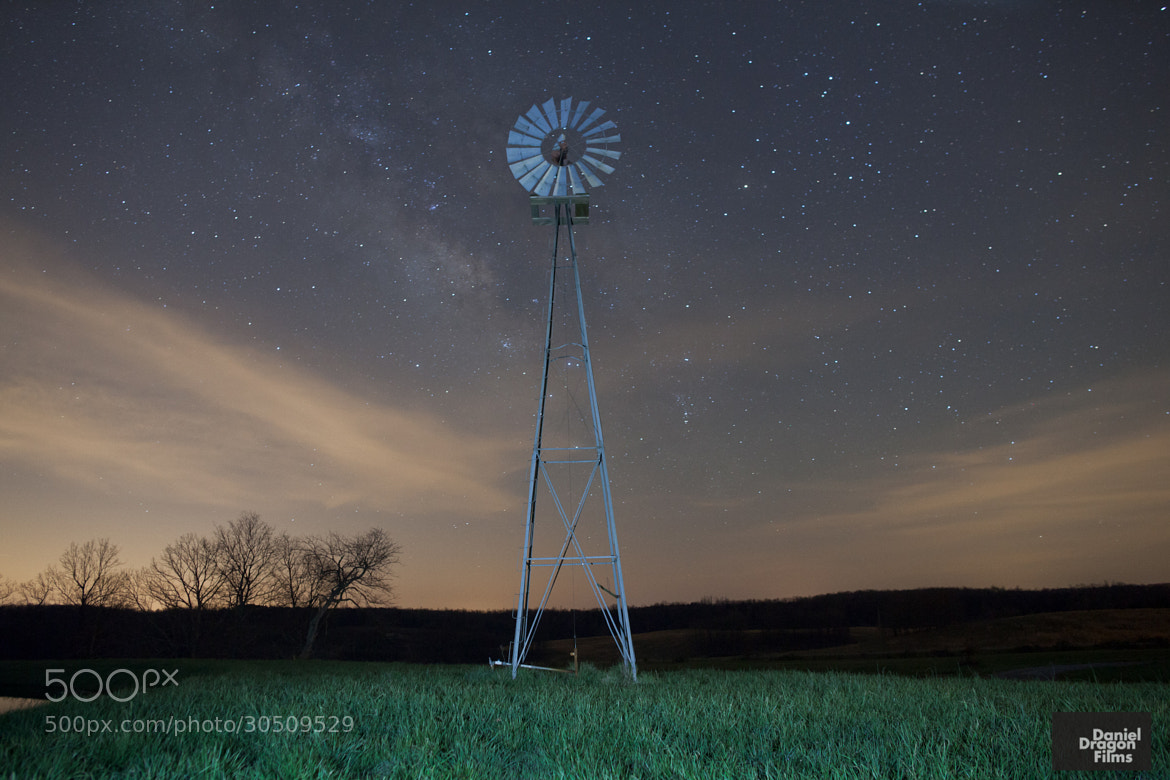 Photograph Milky Way Windmill by Daniel Lowe on 500px