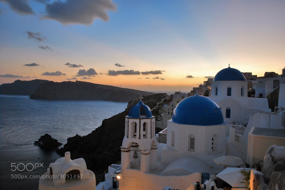 Photograph The Classic Blue Domes Of Santorini by Jeka World Photography on 500px