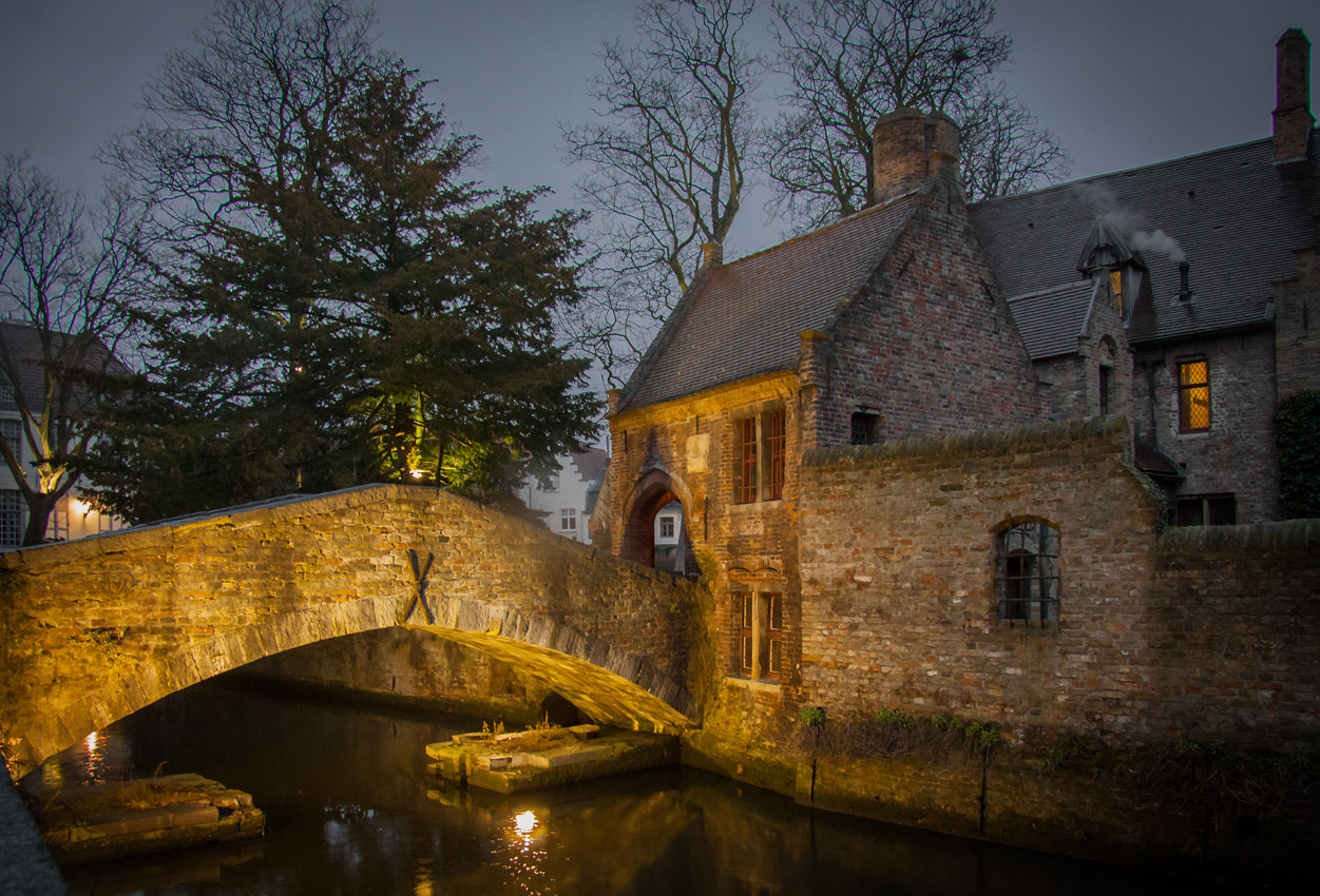 Photograph Night-time Brugge by martin gatti on 500px