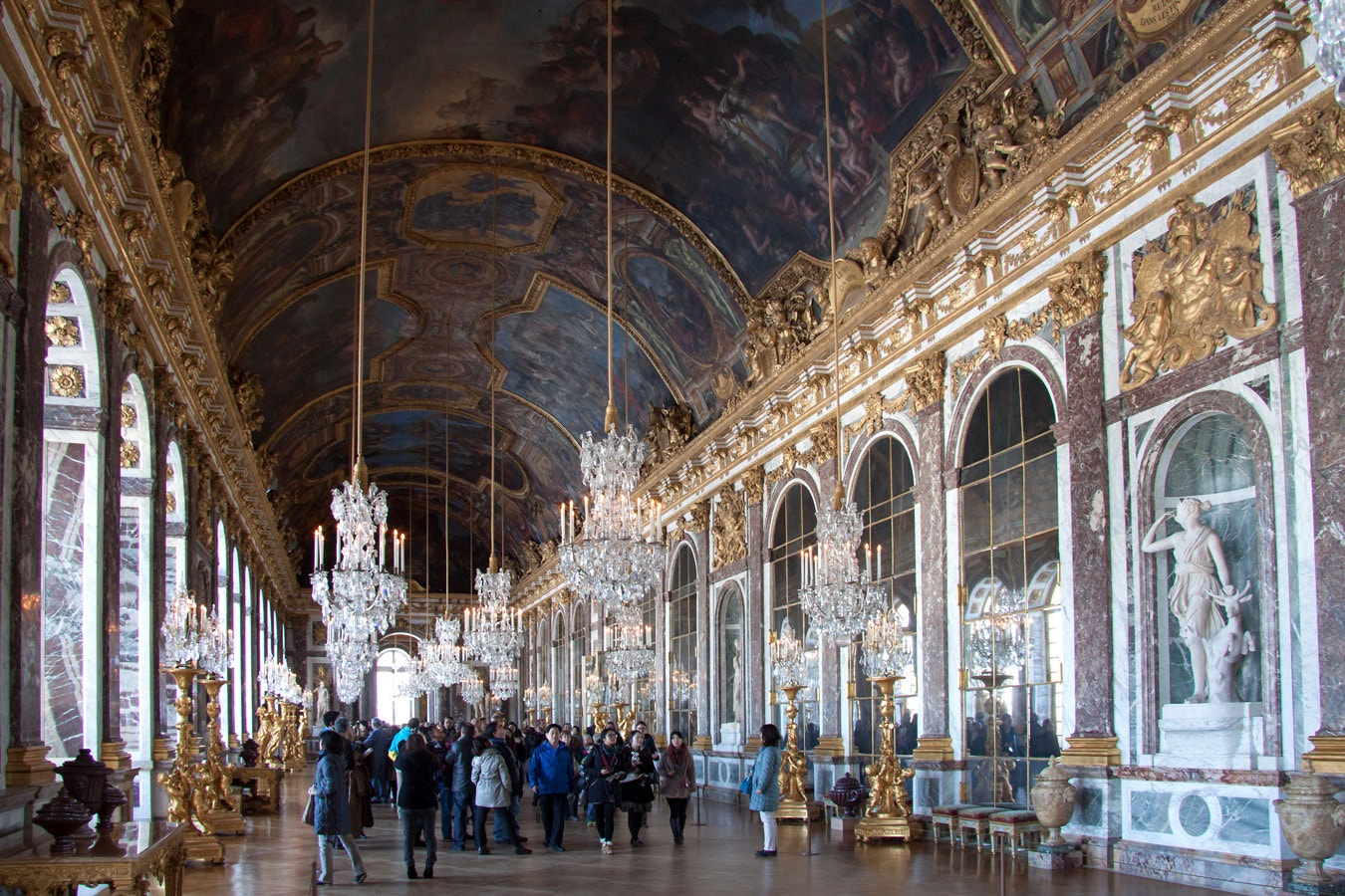 Photograph Hall of Mirrors, Versailles by martin gatti on 500px