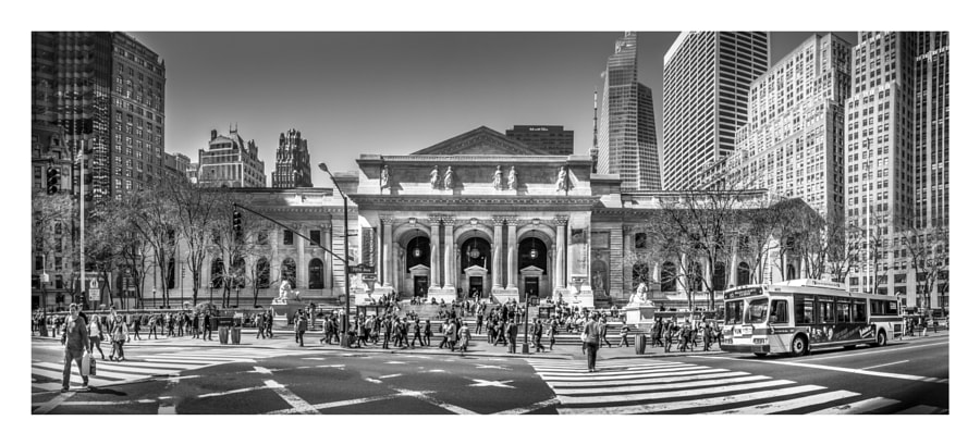 NYC Public Library Panorama View