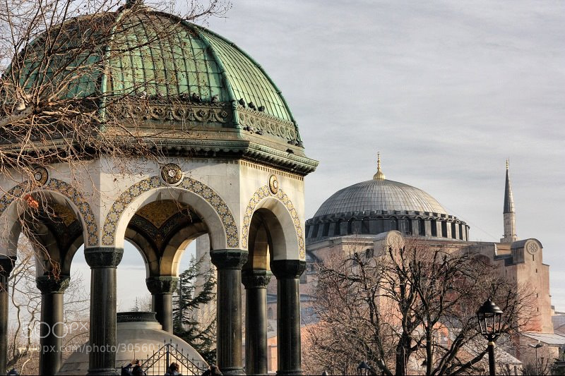Photograph German Fountain and Hagia Sophia by Sarper Savaskul on 500px