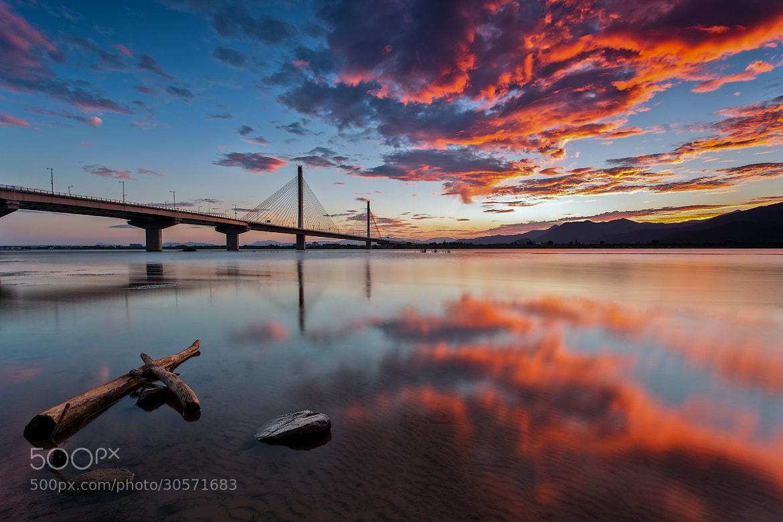 Photograph Sunset over bridge by Emelianenko Dmitrii on 500px
