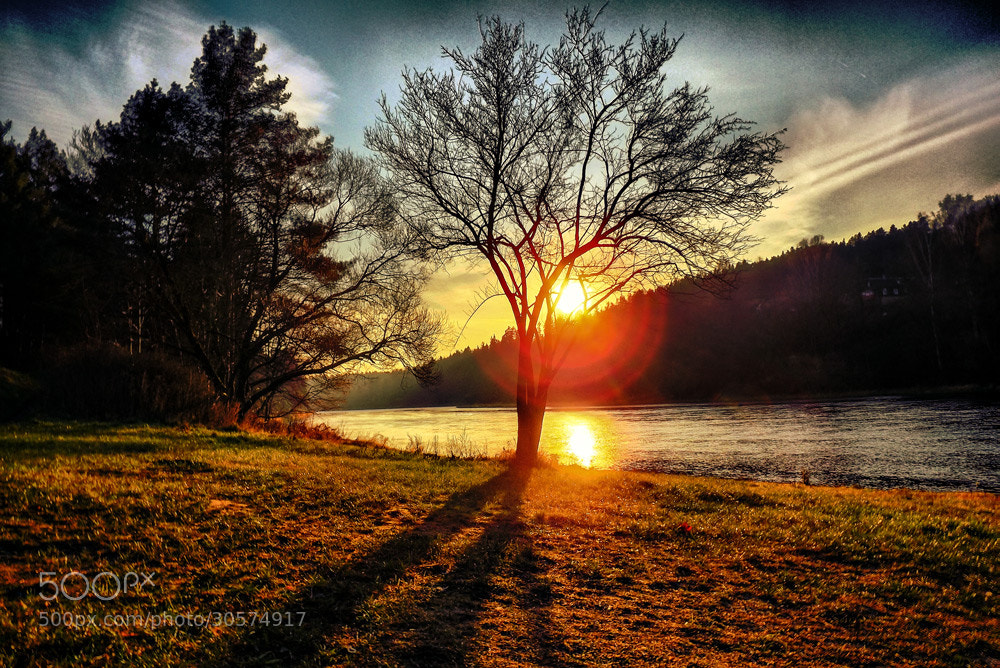 Photograph Sunset on the river by Norbert Durko on 500px