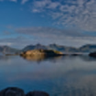 Pano with 8 Stitched Photos Henninsgvaer, Norway