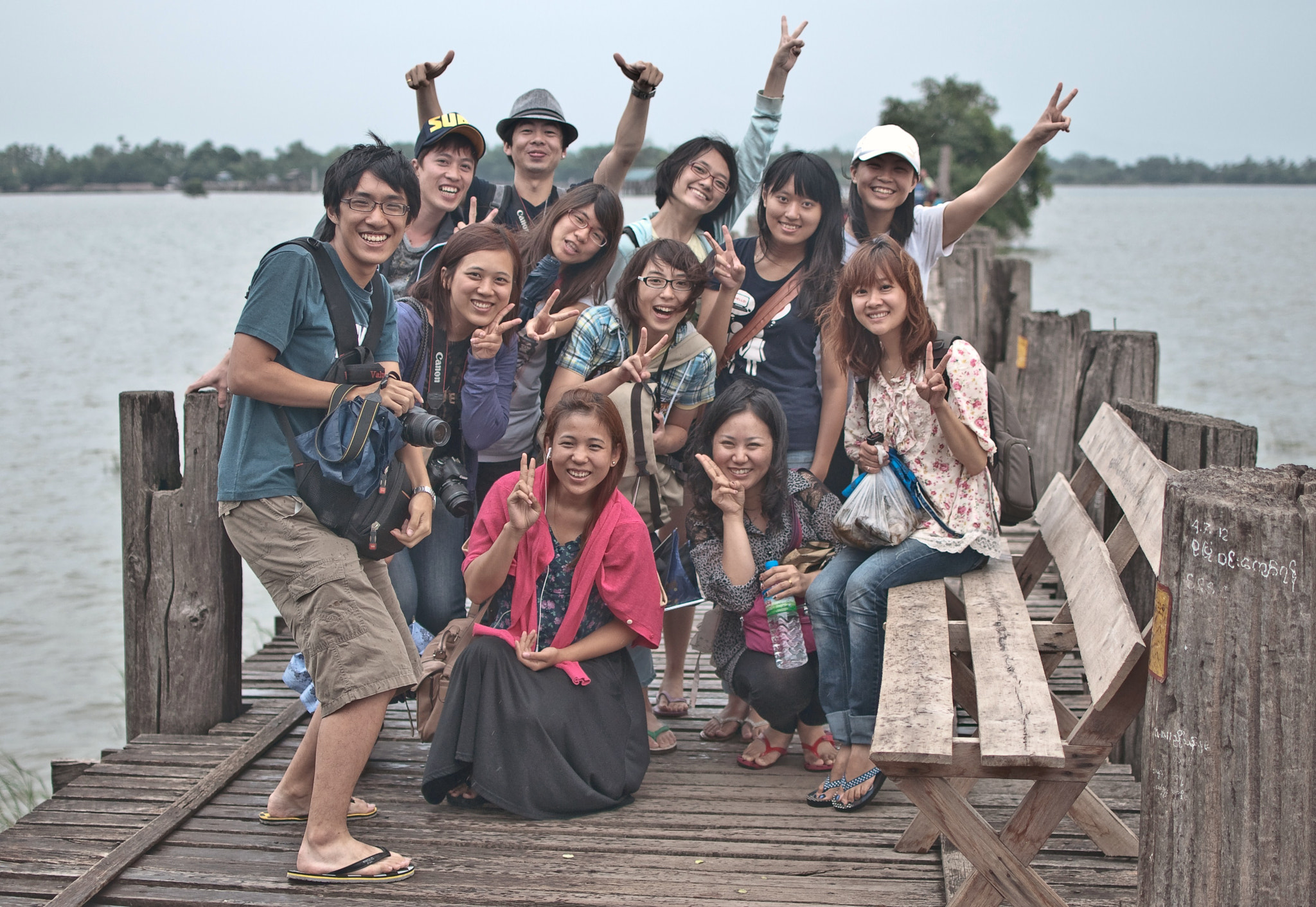 Photograph Photo output on the U-bein bridge (Burma) by Nabil BACHIR-CHERIF on 500px
