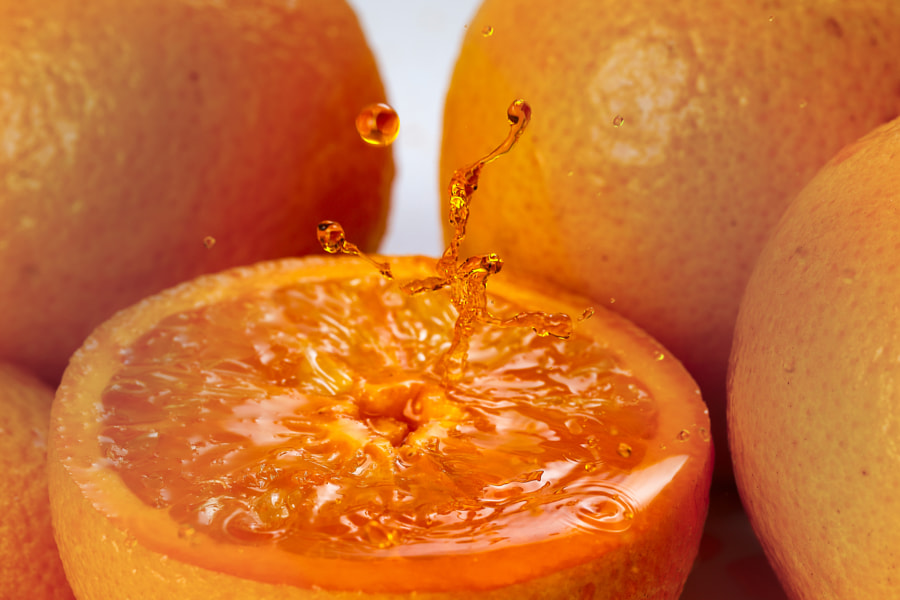 Orange real juice splash by Mohd Oqba on 500px.com