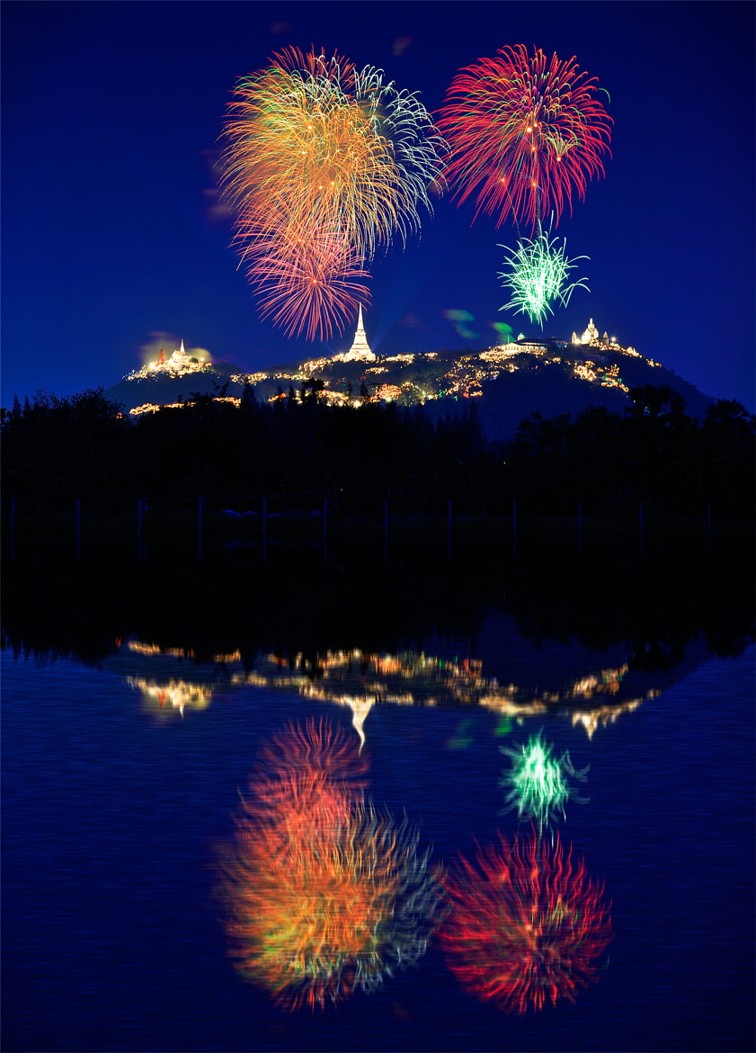 Photograph Phra Nakhon Khiri Fireworks by Puchong Pannoi on 500px