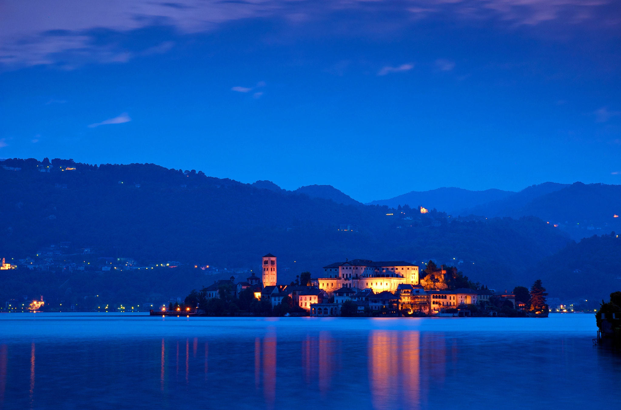 Photograph Orta Blue Hour by stefanocarda on 500px
