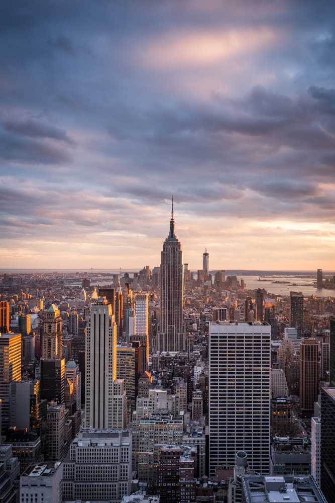 Photograph Sunset over New York City by Lawrence Wheeler on 500px