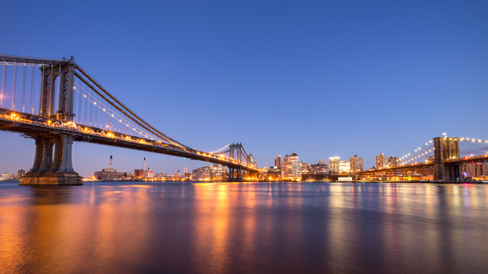 Photograph Manhattan and Brooklyn Bridge by Lawrence Wheeler on 500px