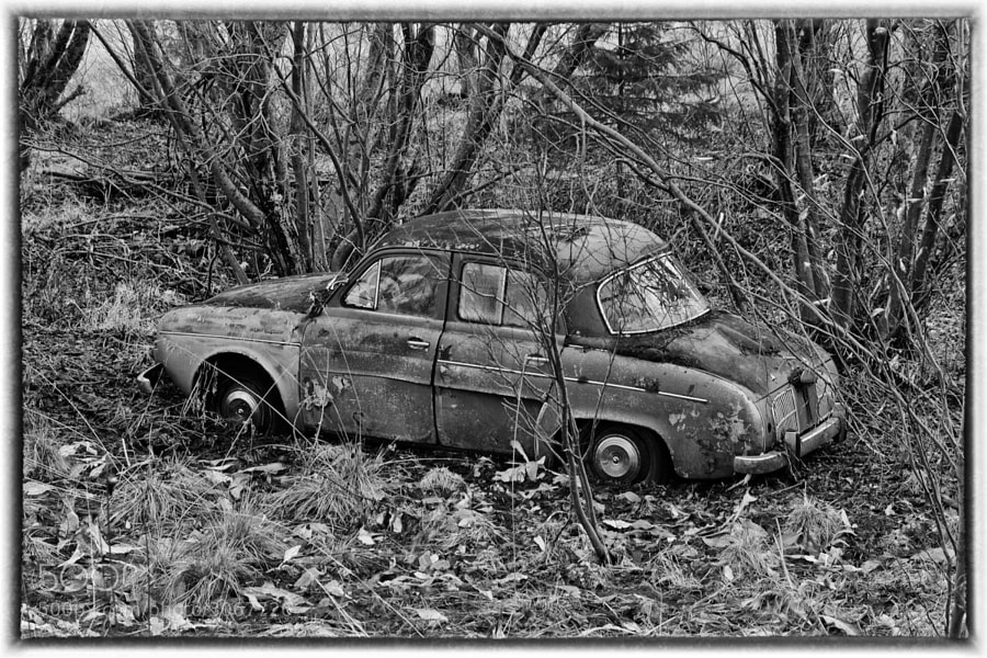 An old car I found near the river in Lakselv