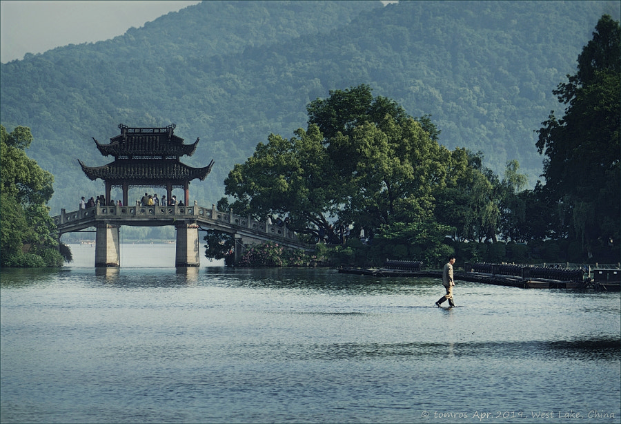 Jesus walking on West Lake. Hangzhou, China. by tom ros on 500px.com