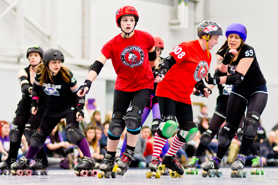 Photograph Evolution Rollergirls versus Hereford Roller Girls by Scott Jones on 500px