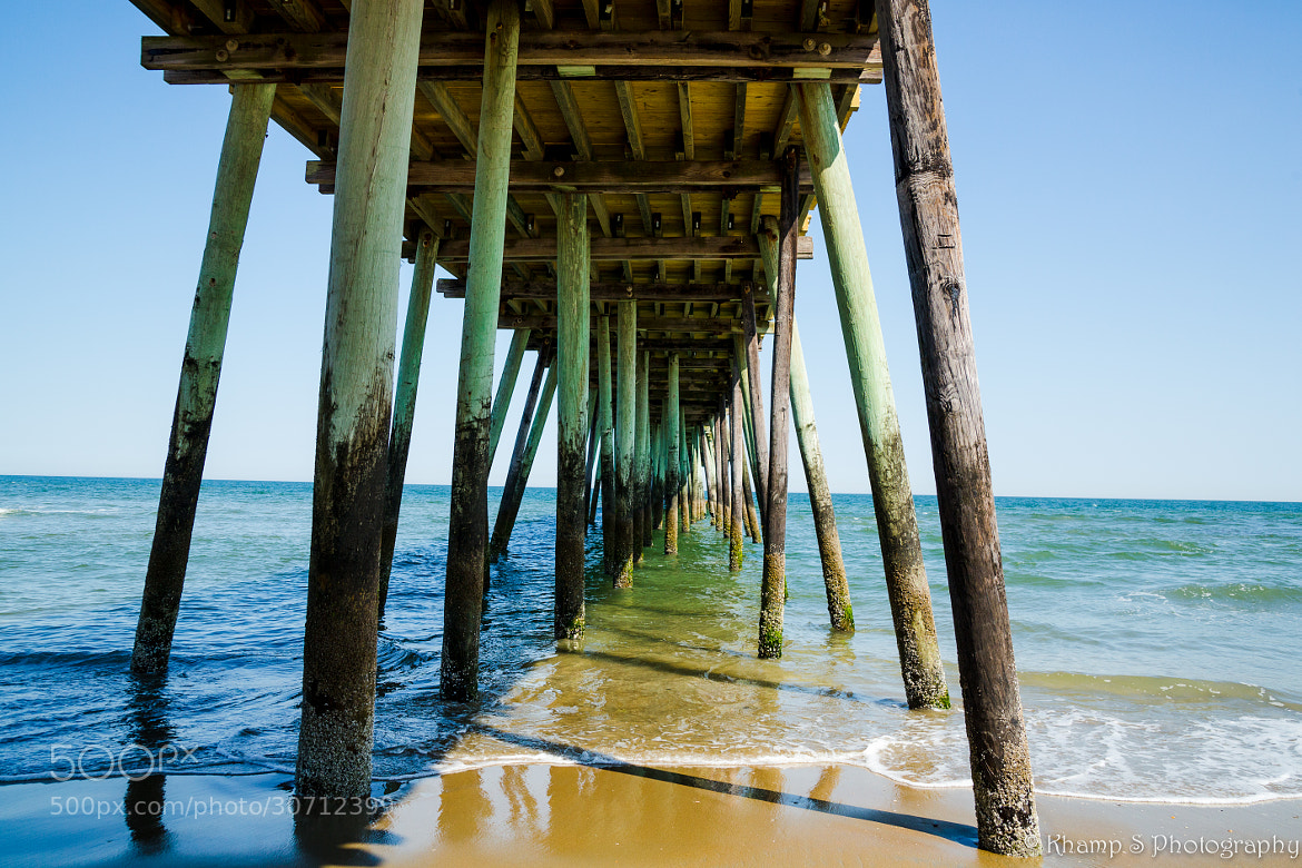 Photograph va beach fishing pier natural colors by khamp for Fishing piers in va