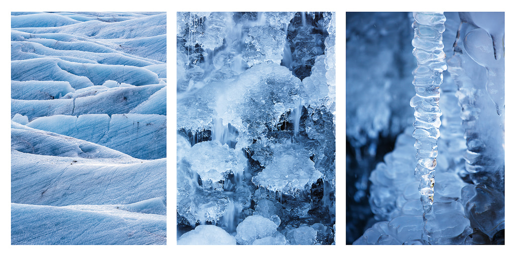 Photograph Ice detail triptych by Simon Byrne on 500px