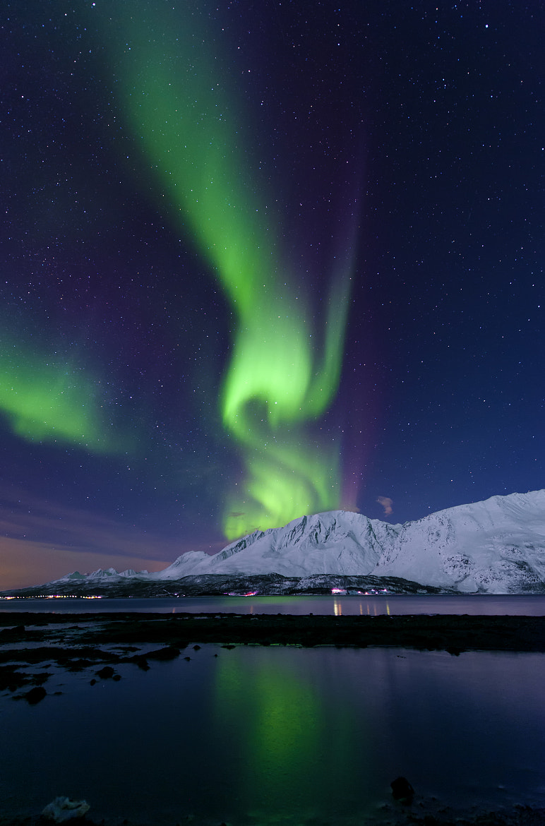 Photograph Northern Lights over Lyngen by Francesco Wueest on 500px