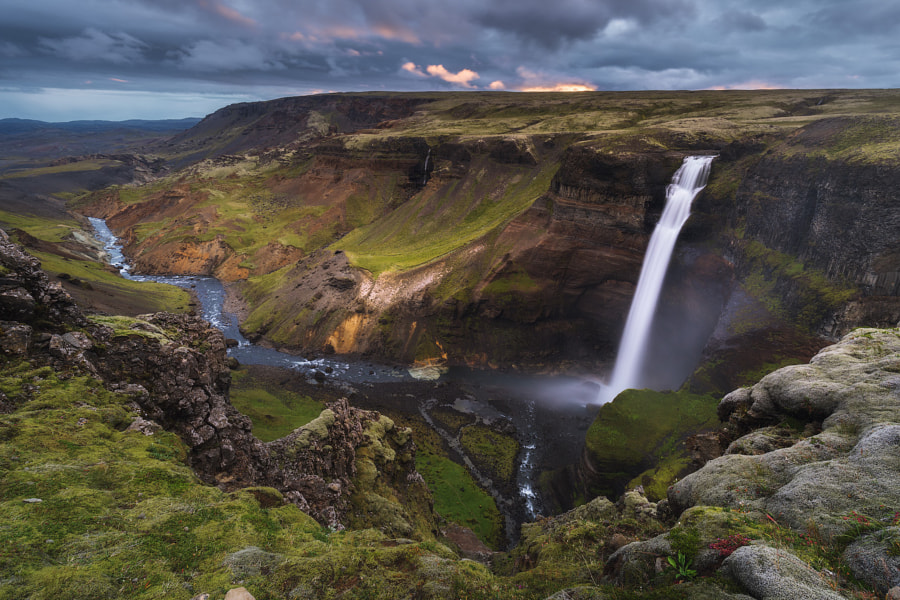 Waterfall in the Icelandic Highlands by Iurie Belegurschi on 500px.com