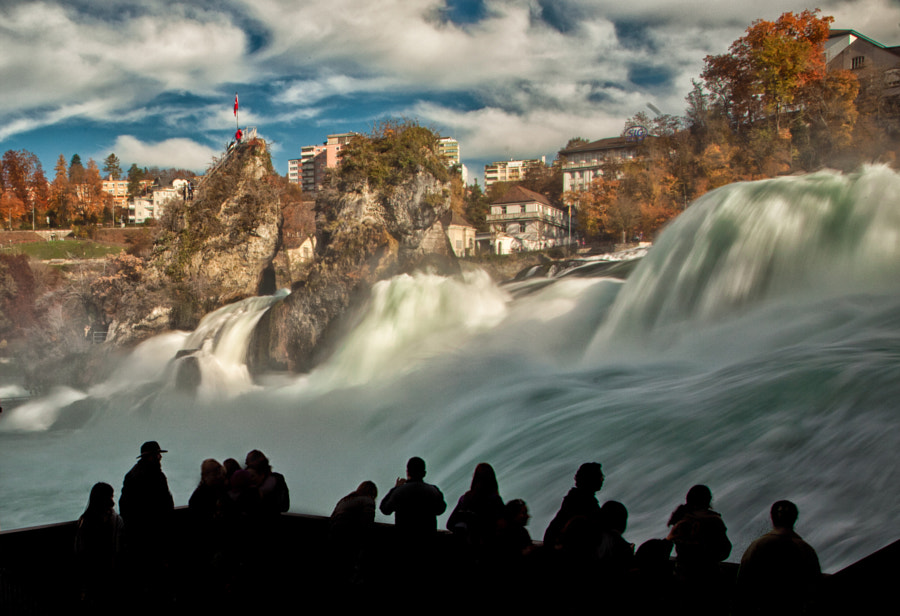 Rheinfall - the largest waterfall in Europe