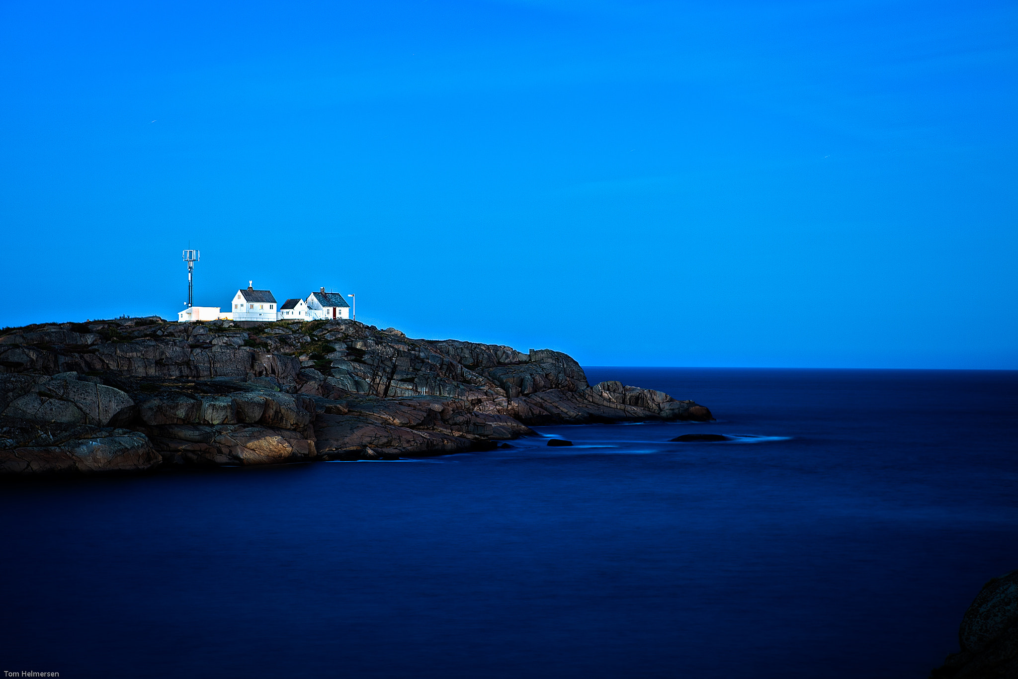 Photograph Lighthouse at night by Tom Helmersen on 500px