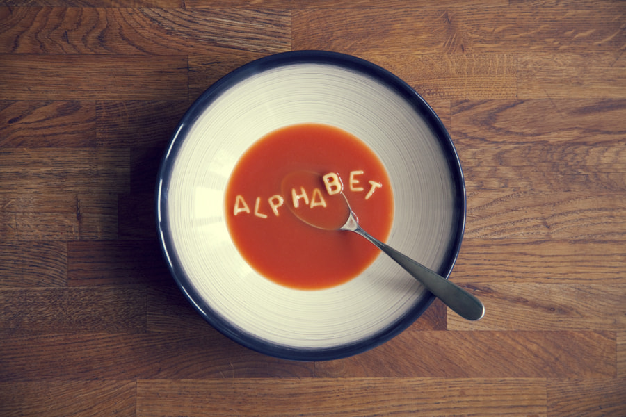 Photograph Alphabet Soup by Carly Wong on 500px