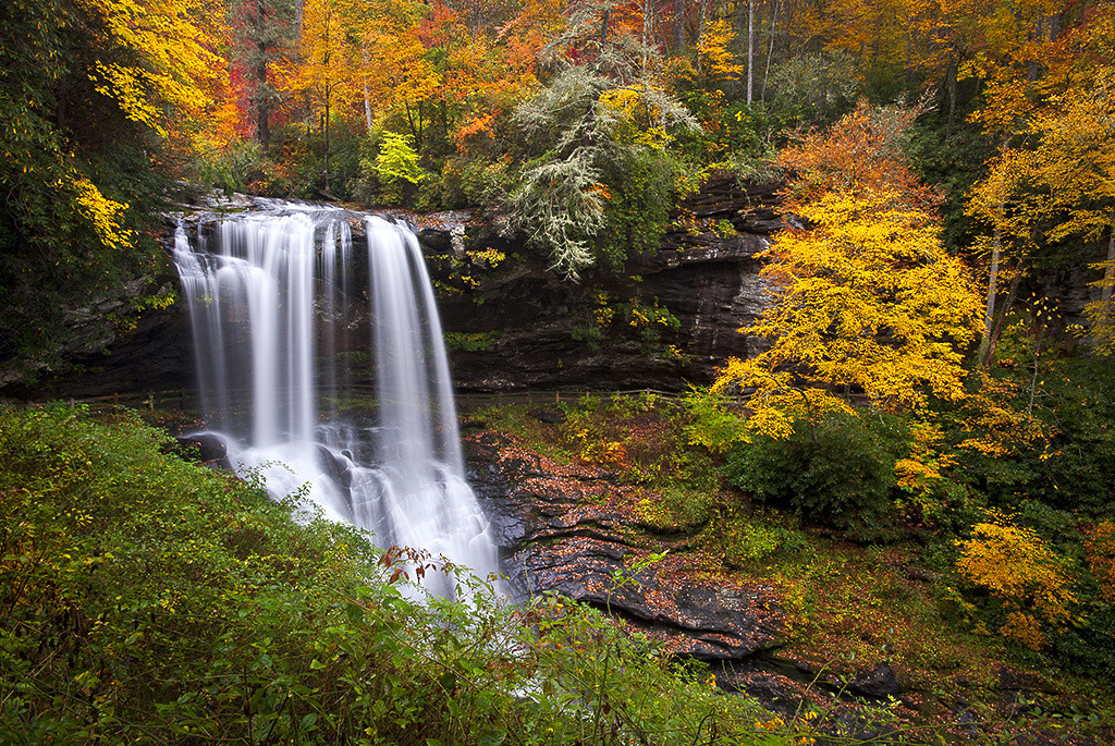 Photograph Autumn at Dry Falls - Highlands NC Waterfalls by Dave Allen on 500px