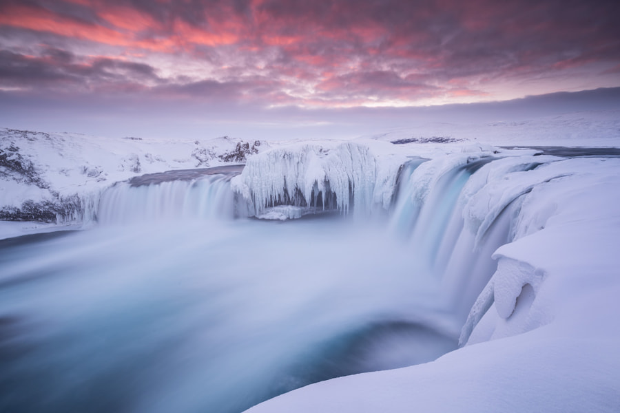 Winter at Godafoss by Iurie Belegurschi on 500px.com