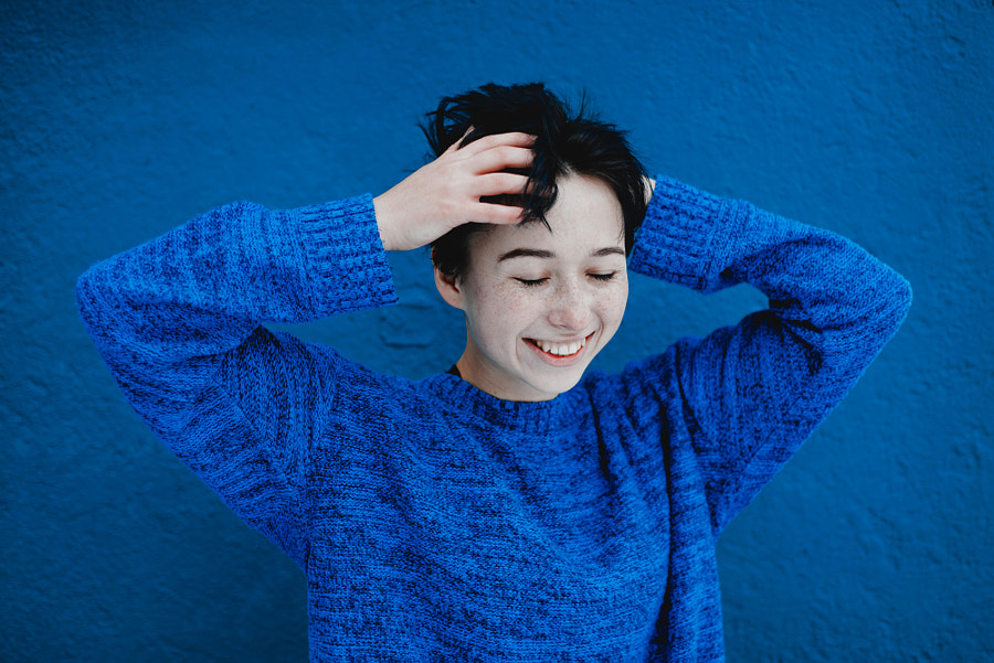 Blue smile by Alex Karamanov on 500px.com