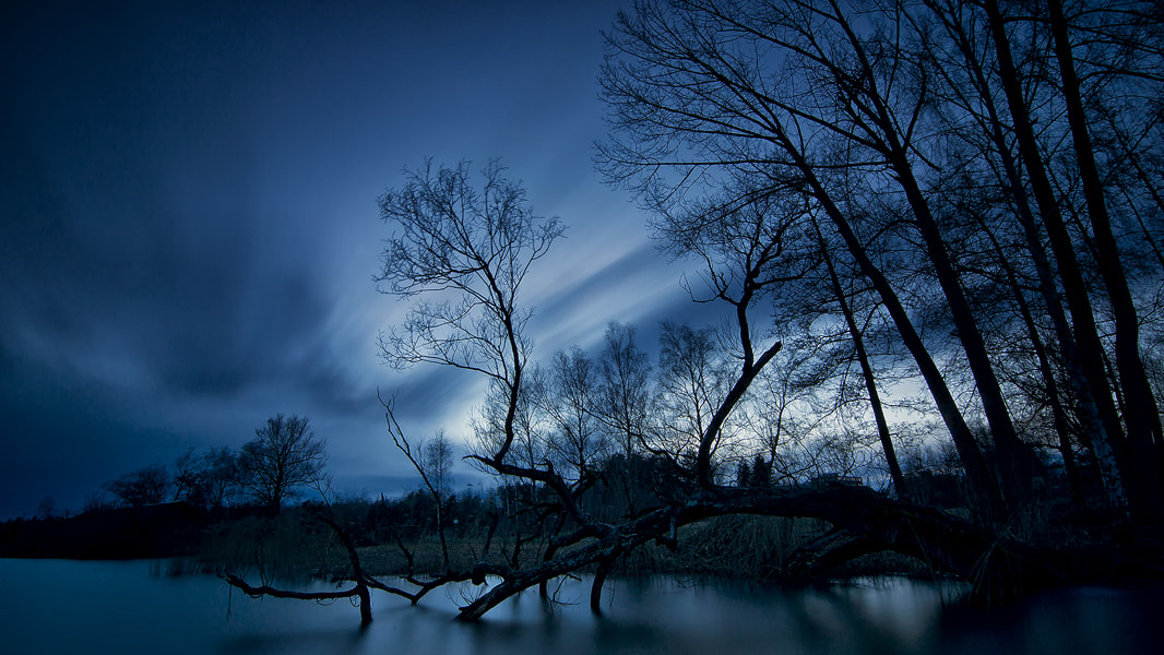 Photograph blue hour by Sandra Löber on 500px