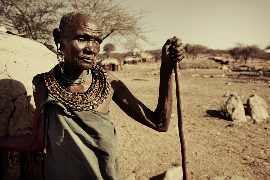 Blind Samburu woman