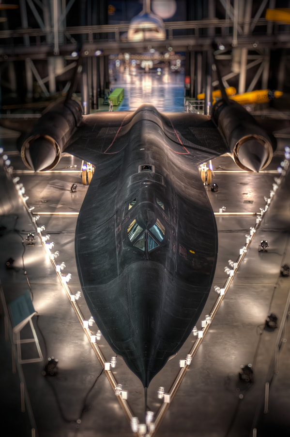 The SR-71 at the Steven F. Udvar-Hazy Center near Washington Dulles International Airport