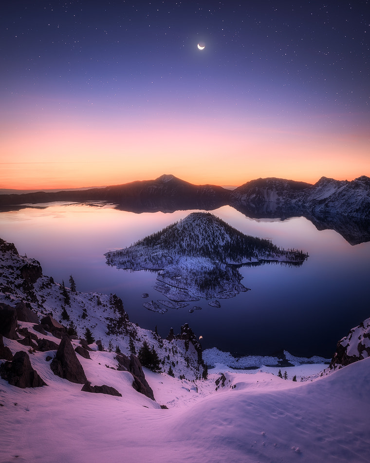 First Light at Crater Lake