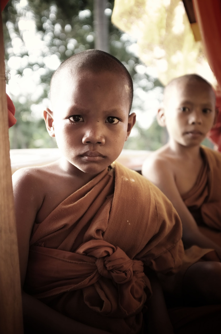 Photograph Young Buddhist novice monks by Matthew Richards on 500px