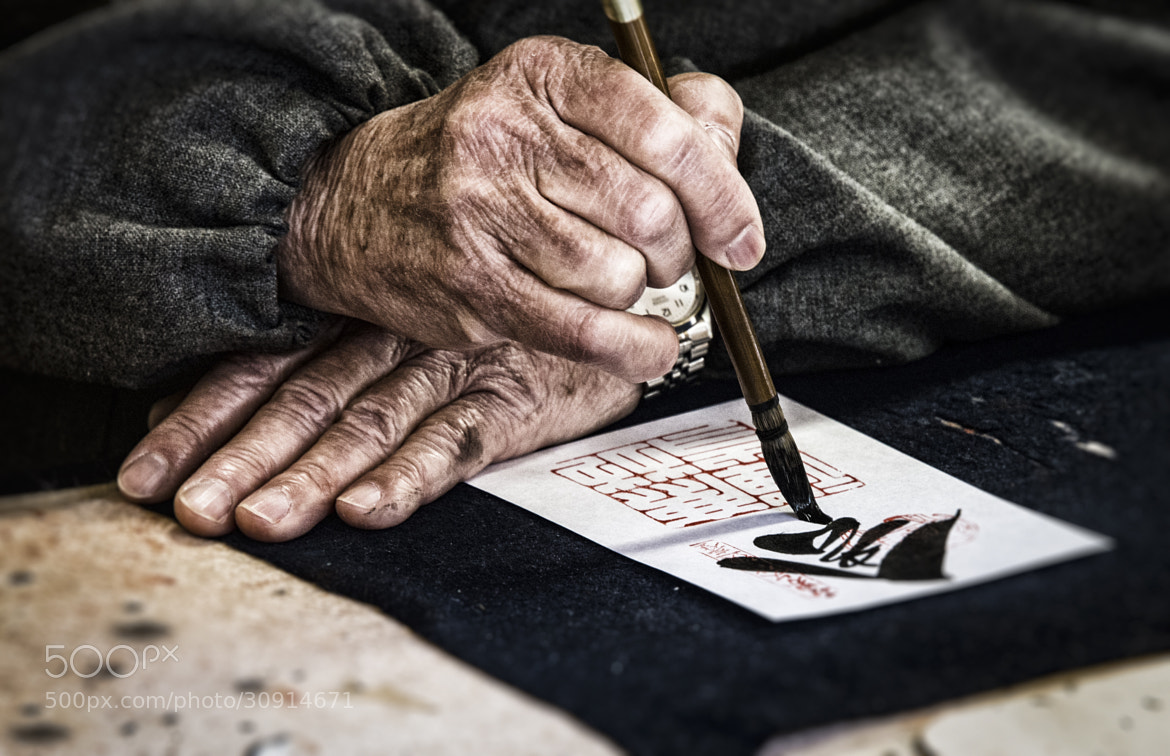 Photograph Calligraphy In The Making by Tom Schmitt on 500px