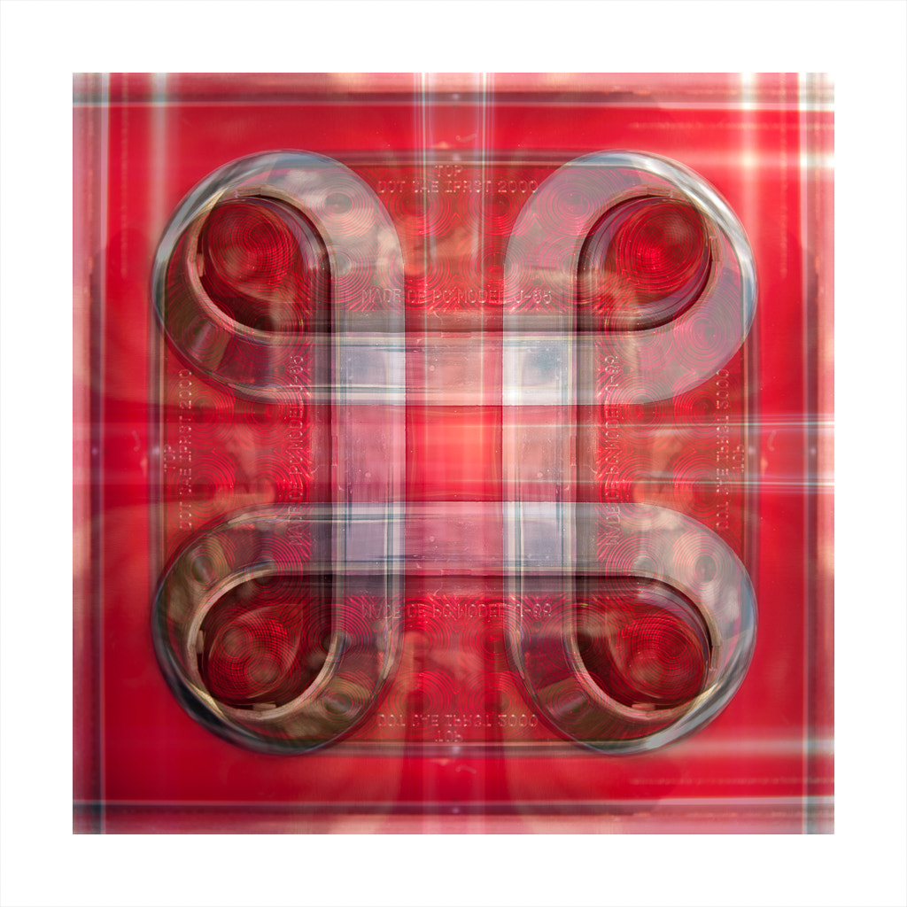 Photograph Red Plaid Tail Light by Drew Sumrell on 500px