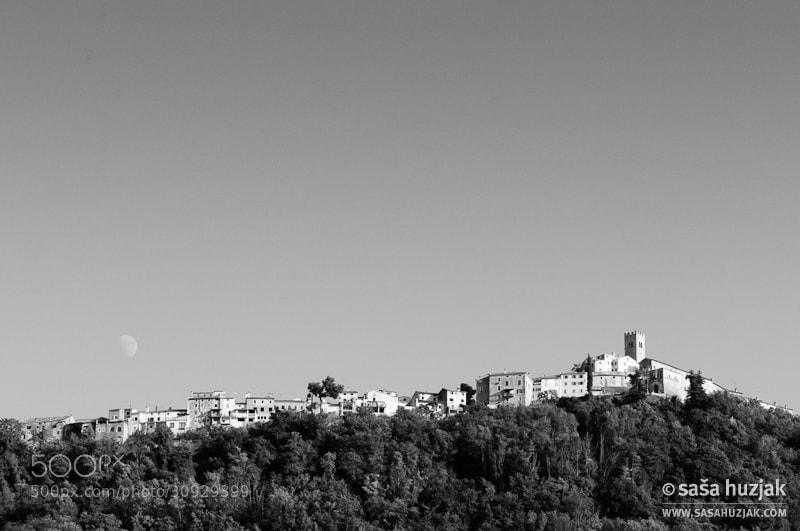 Photograph Moon over Motovun by Saša Huzjak on 500px