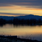 Sunset facing west from the Bear River Migratory Bird Refuge, Utah.