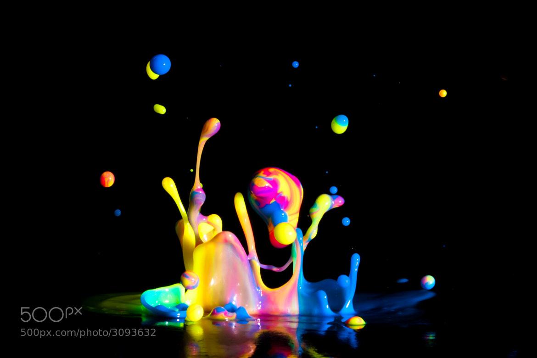 Photograph Rainbow Paint Splash by Patrick Latter on 500px