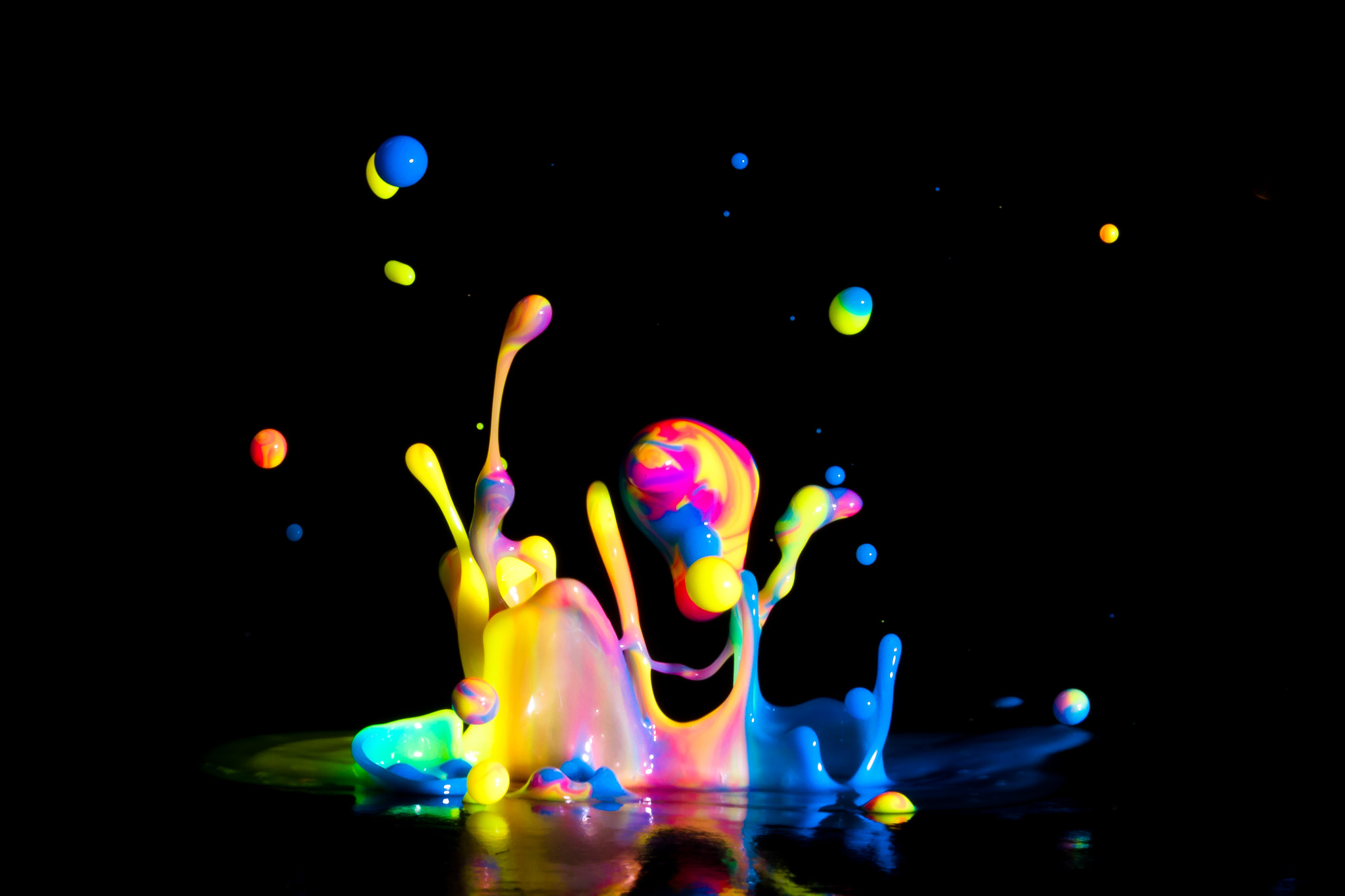 Photograph Rainbow Paint Splash by Patrick Latter on 500px