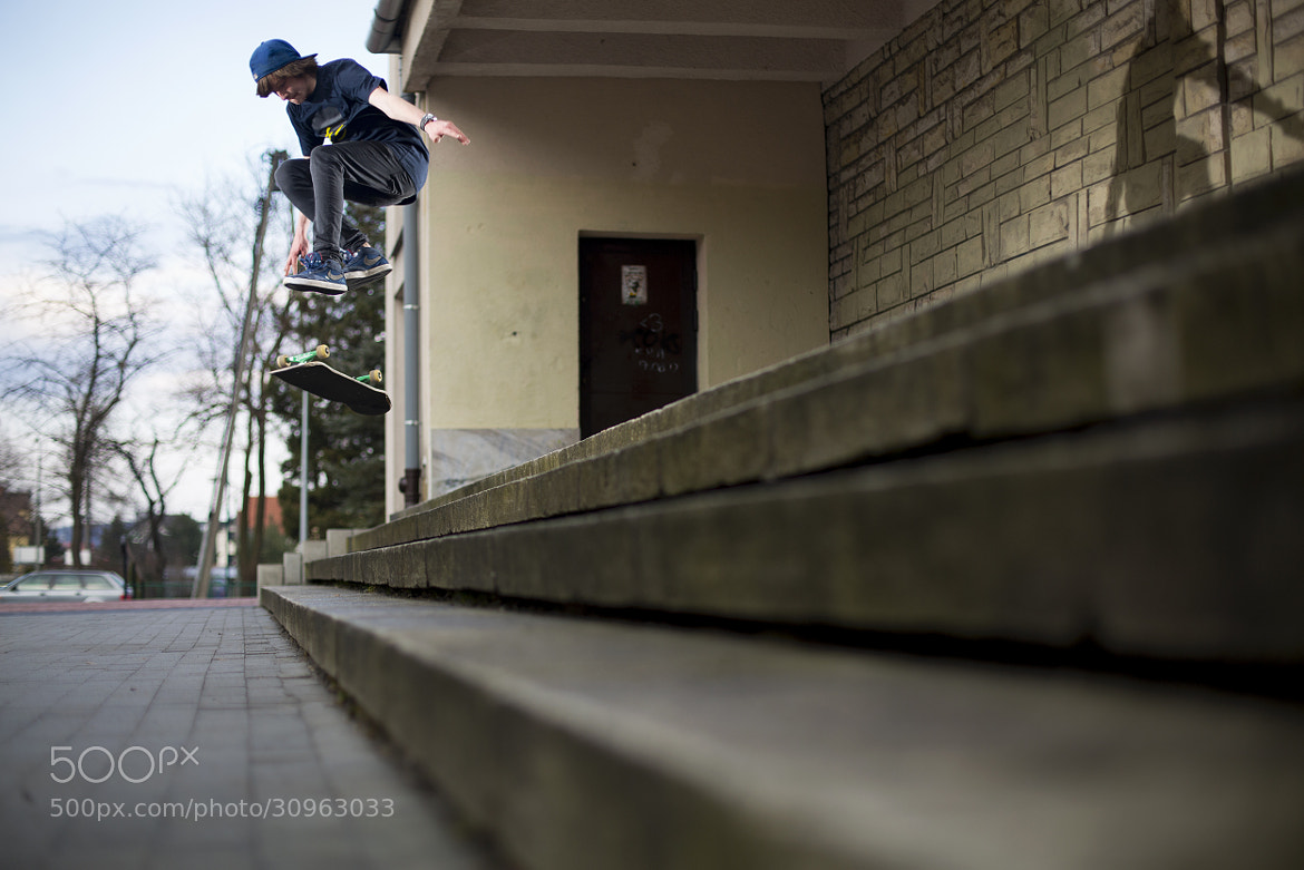 Photograph tre flip down the stairs by Hubert Cetnar on 500px