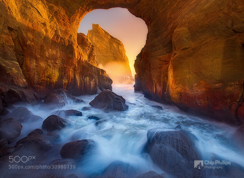 Photograph Cape Kiwanda Keyhole by Chip Phillips on 500px