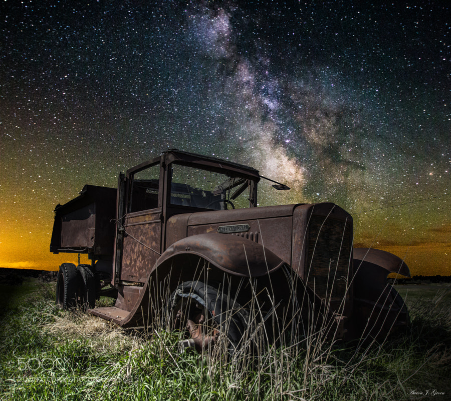 """""""International Milky Way"""" Milky Way Stars shine bright over this old International truck in Southwestern, Minnesota.    Please visit my website for prints and products  ---<a href=""""www.homegroenphotography.com"""" rel=""""nofollow"""">www.homegroenphotography.com</a> facebook - <a href=""""http://www.facebook.com/HomeGroenPhotography"""" rel=""""nofollow"""">www.facebook.com/HomeGroenPhotography</a>"""