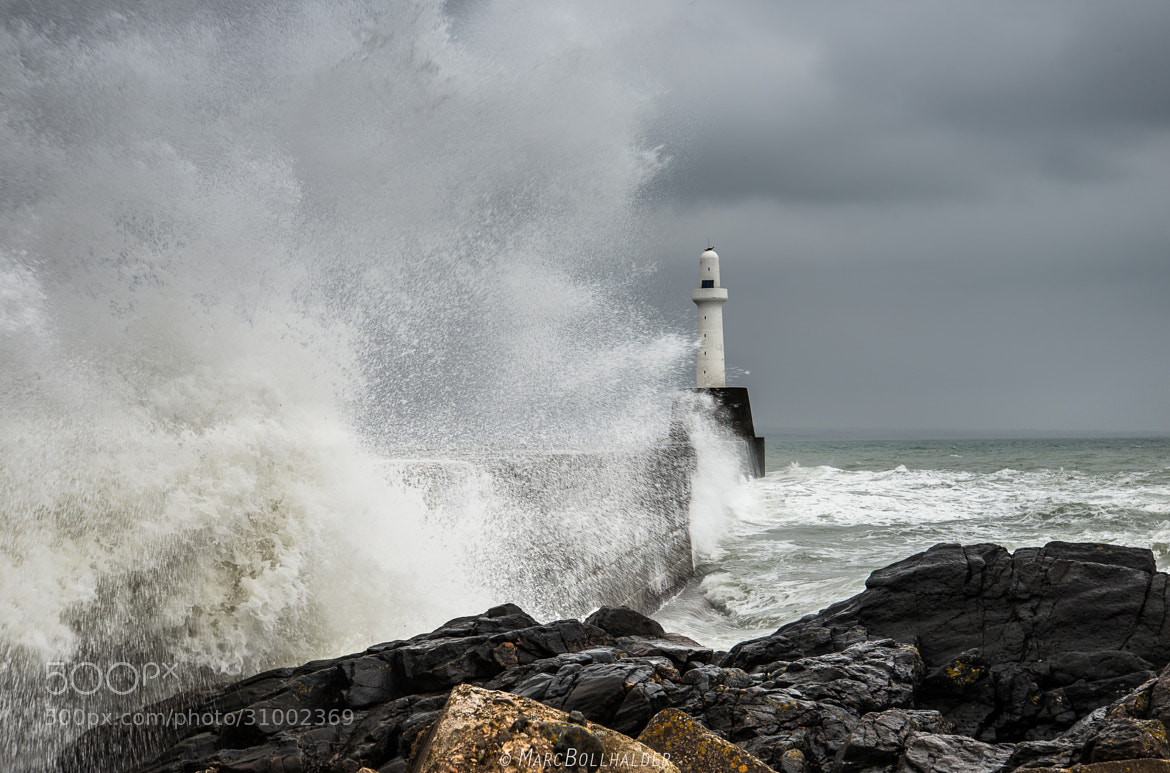 Photograph Stormy sea with Lighthouse by Marc Bollhalder on 500px